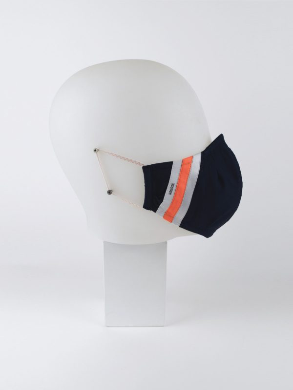 Mund-Nasen-Maske retro blau