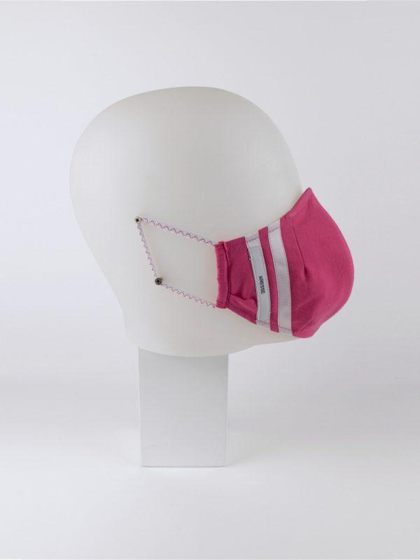 Mund-Nasen-Maske sportlich pink