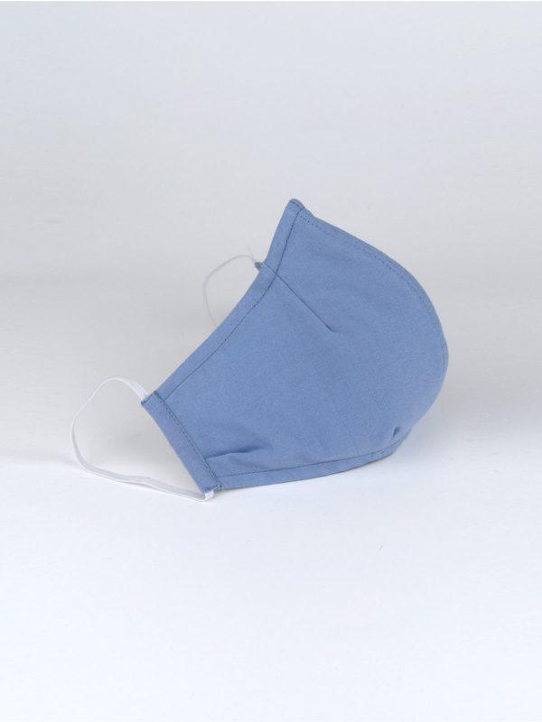 Mund-Nasen-Maske hellblau