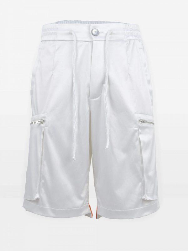 Short Cargo-Pants weiss
