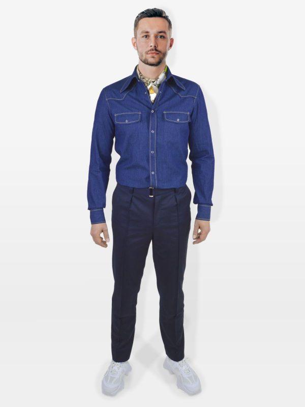 Sportlich elegante Herrenhose in blau